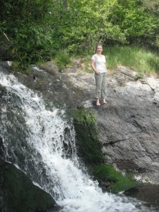 Natalie found a gently sloping waterfall