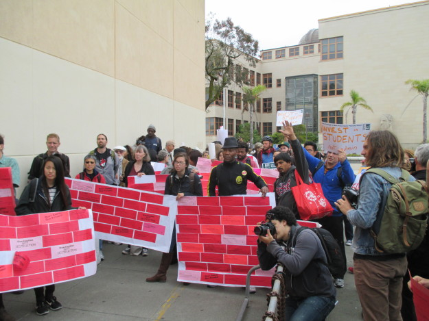 Students and faculty converge at the City College administration building to ask: Why are you cutting our classes?