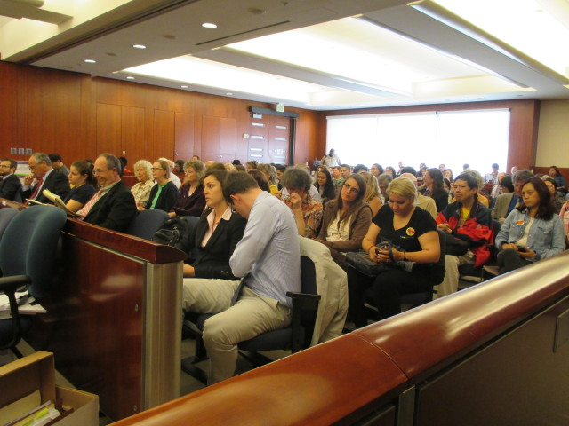 The courtroom was packed -- for the third straight day -- with a diverse group of City College supporters