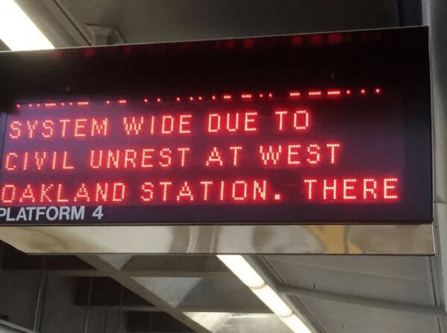 A protest shut the BART system down for a few hours; should demonstrators be forced to pay?