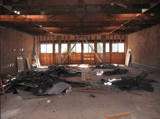The old: this is what the space looked like when Station 40 rented it more than a decade ago