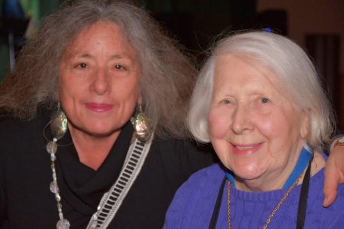 93-year-old activist legend Jane Morrison with friend