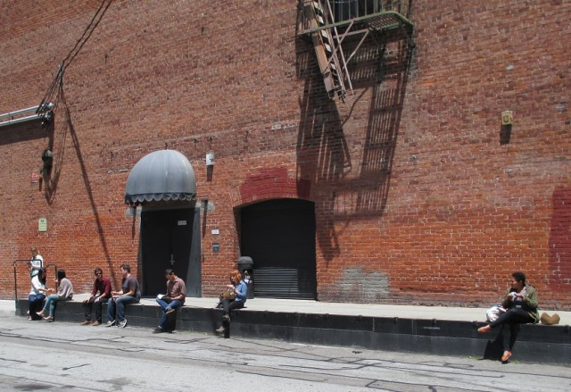 The building owners said there was no loading dock at the building -- but we found one pretty easily