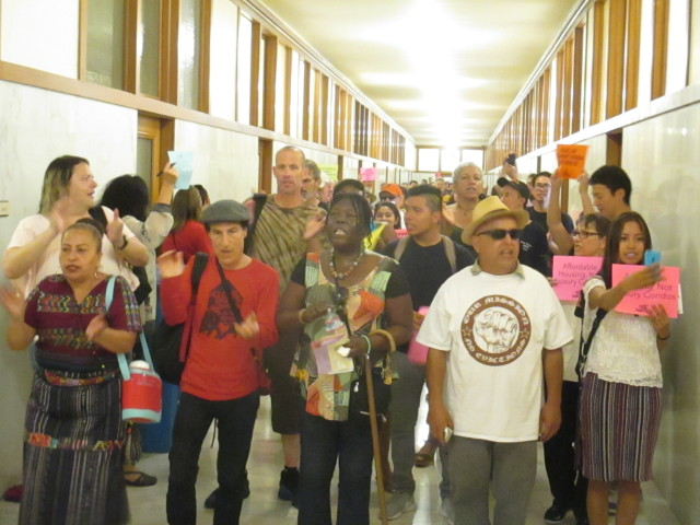 Tenants took over City Hall to demand anti-eviction legislation