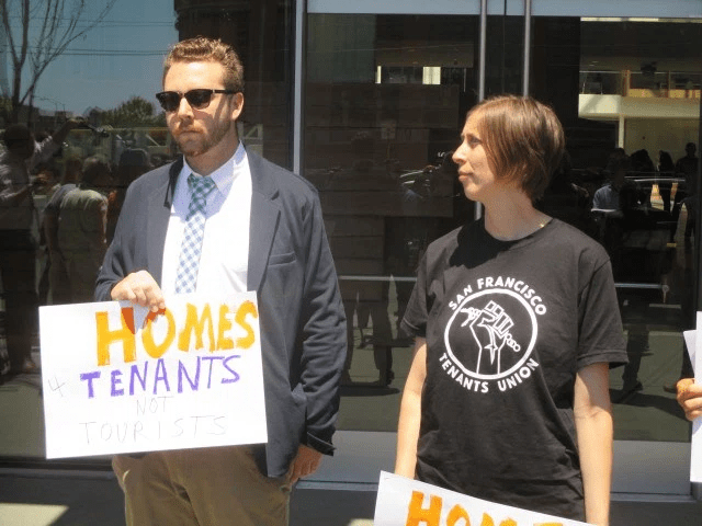 Landlords (Charlie Goss from the Apartment Association) and tenants (Jennifer Fieber from the SF Tenants Union) are united, for once, in favor of regulating Airbnb