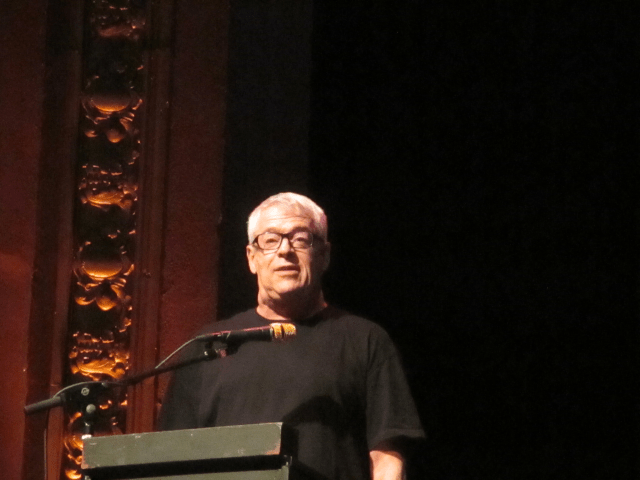 Cleve Jones gives an inspiring speech to activists at the VisionSF kickoff