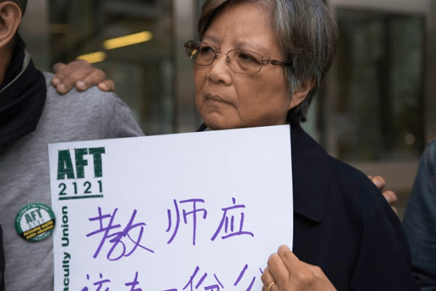 Eva Cheng, academic advisor at the Chinatown campus, says she wants the next generation of faculty to have better pay than she has. Photo by Gabriella Angotti-Jones)
