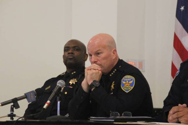 Police Chief Suhr at Town Hall