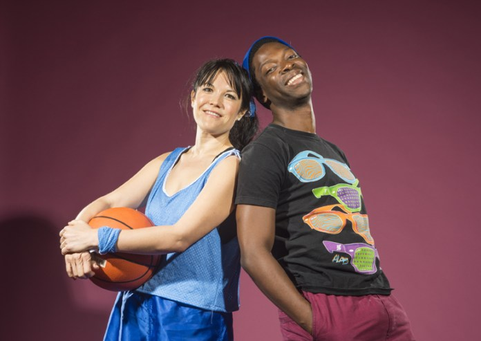 Just kids: actors Lisa Hori-Garcia (l) and Rotimi Agbabiaka in 'Schooled.' Photo: SF Mime Troupe/David Allen Studio
