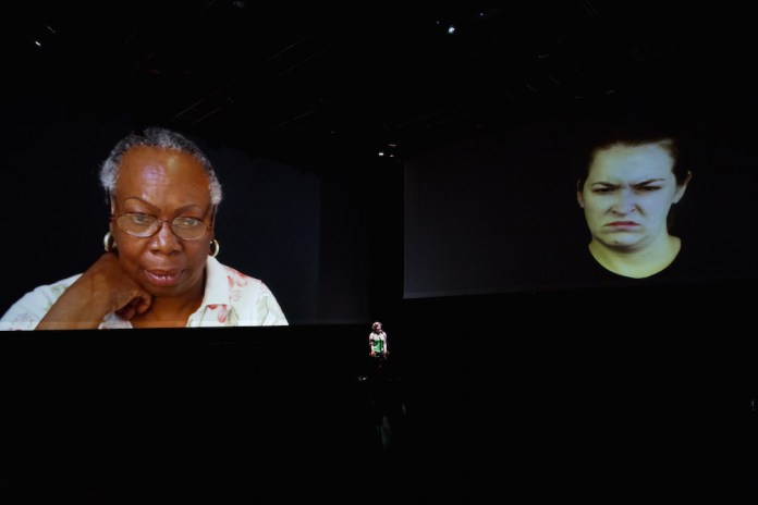 """From The Source,"""" with Mellissa Hughes (pictured, center). Photo by Noah Stern Weber/MASS MoCA"""