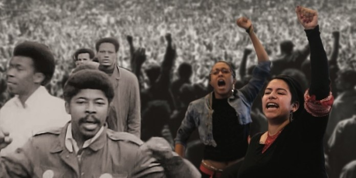 A still from Agents of Change, documentary film showing Tuesday/20