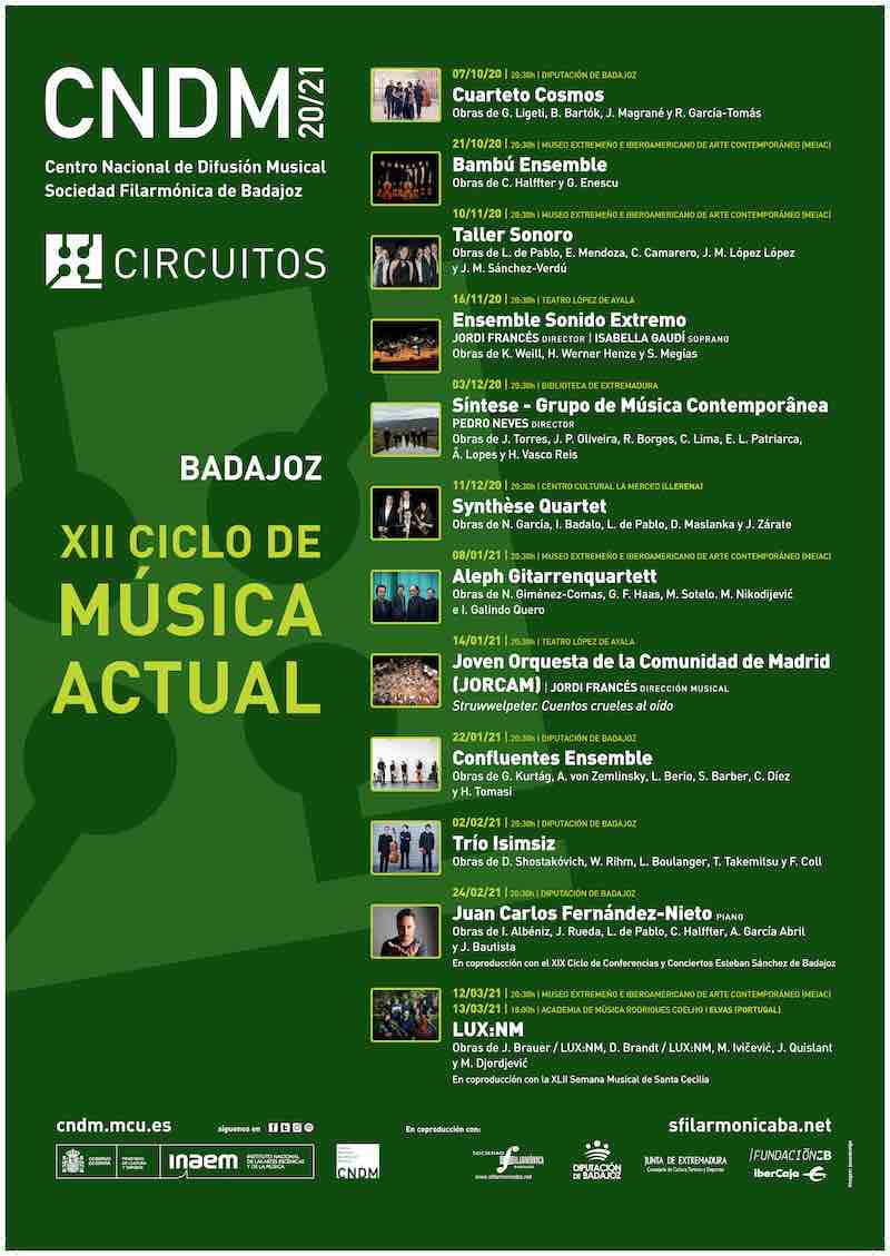 XII Ciclo de Música Actual de Badajoz - 'Cuarteto Cosmos'