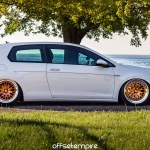 Glacier White Vw Golf Mkvii With Deep Concave Ccw Classic Wheels