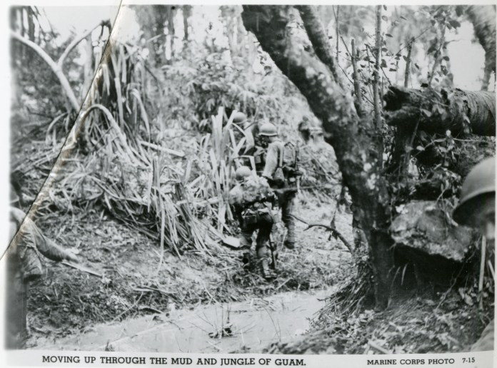 US Marines marching through a jungle, Guam, 1944 | The Digital Collections  of the National WWII Museum : Oral Histories