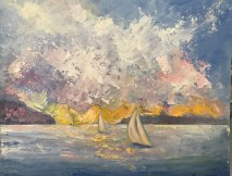 Severn River by Janet Ewing, oil