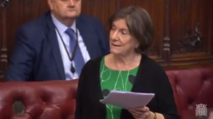 Baroness Jenny Tonge is once under under fire for antisemitic and anti-Israel remarks. Photo: Video Screenshot.