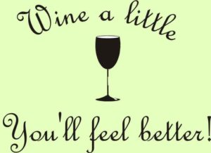 feel better, drink wine