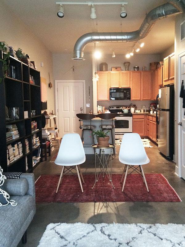 Creative Do It Yourself Design For Studio Loft Apartment