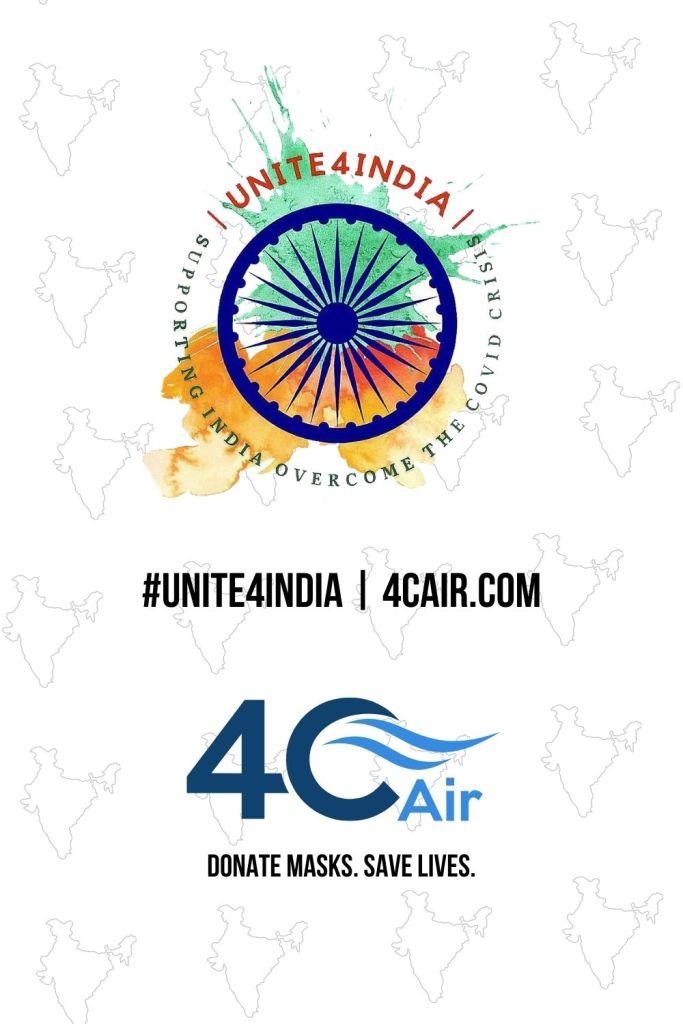 Unite4India 4C Air Mask Donation Program