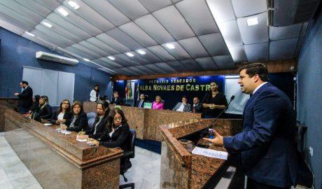 Marcelo Palmeira participa da abertura dos trabalhos na Câmara Municipal de Vereadores. Foto: Pei Fon/ Secom Maceió