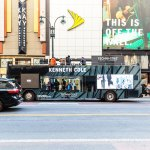 Kenneth Cole Glas Bus in Midtown Manhattan NY
