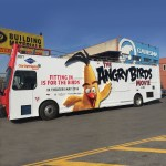 The Angry Birds Movie Chuck bus at our Carisma shop - Brooklyn NY