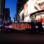 Moulin Rouge illuminated in Times Square NYC