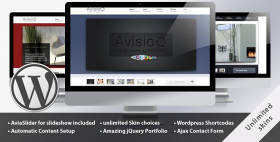 Avisio Business and Portfolio WordPress Template