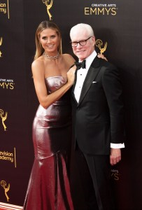 Heidi Klum and Tim Gunn Emmy's Creative Arts 2017 Red Carpet 4Chion LIfestyle