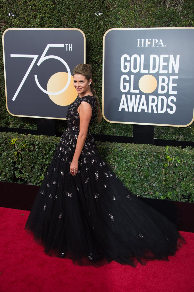 Carly Steel arrives at the 75th Annual Golden Globe Awards 4chion lifestyle
