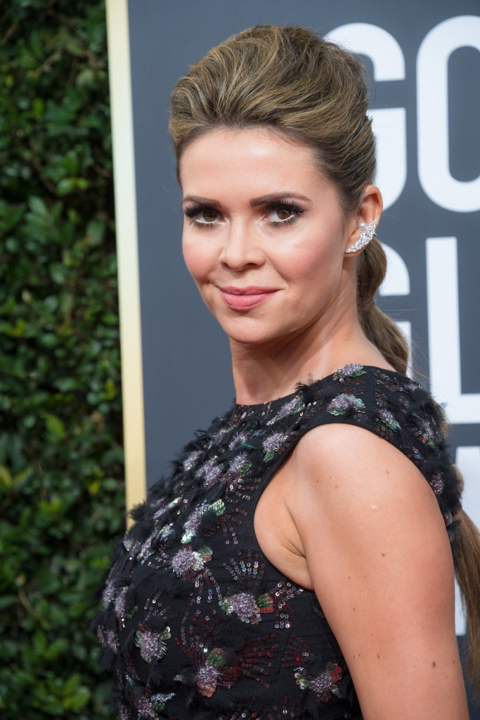 TV personality Carly Steel attends the 75th Annual Golden Globes Awards 4chion lifestyle