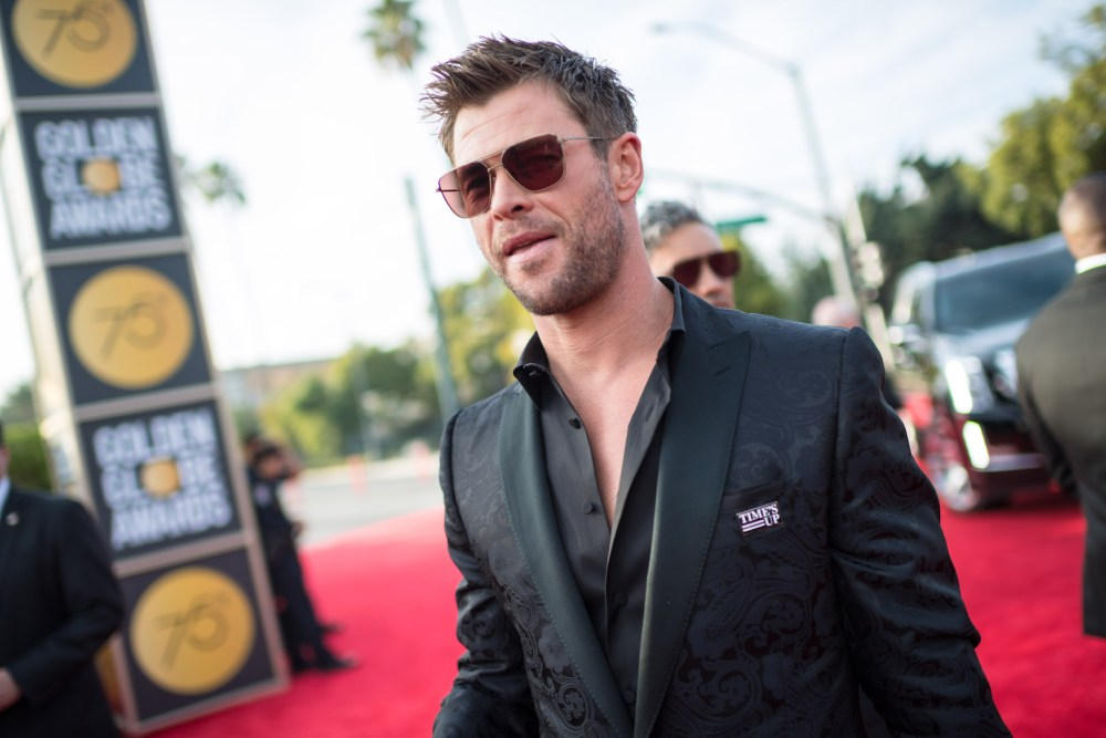 Chris Hemsworth arrives at the 75th Annual Golden Globes Awards 4chion lifestyle