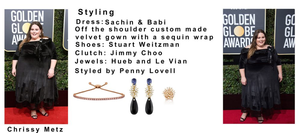 Chrissy Metz Golden Globes 4Chion Lifestyle styling sheet