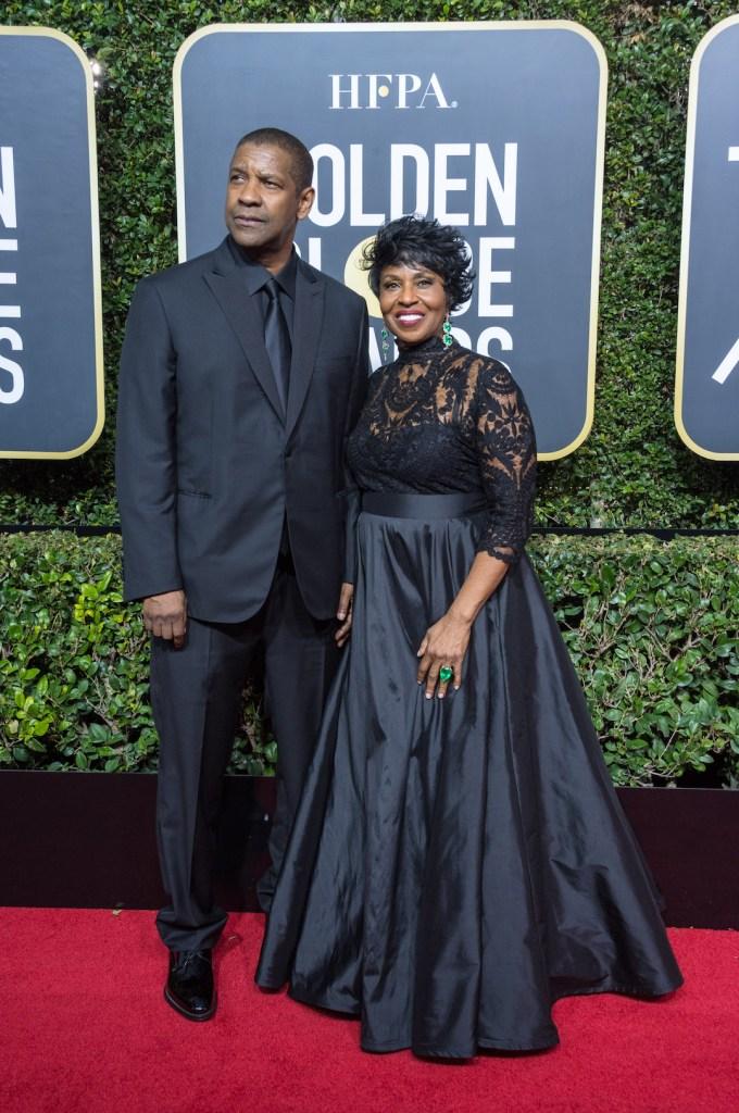 Denzel Washington and Pauletta Washington arrive at the 75th Annual Golden Globe Awards 4chion lifestyle