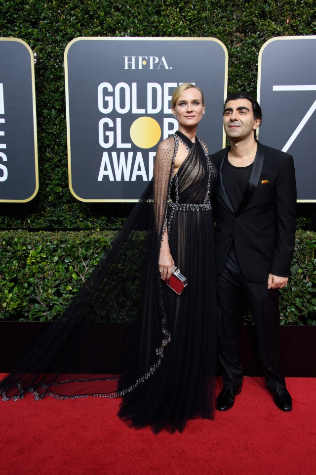 Diane Kruger and Fatih Akin, arrive at the 75th Annual Golden Globe Awards 4chion lifestyle