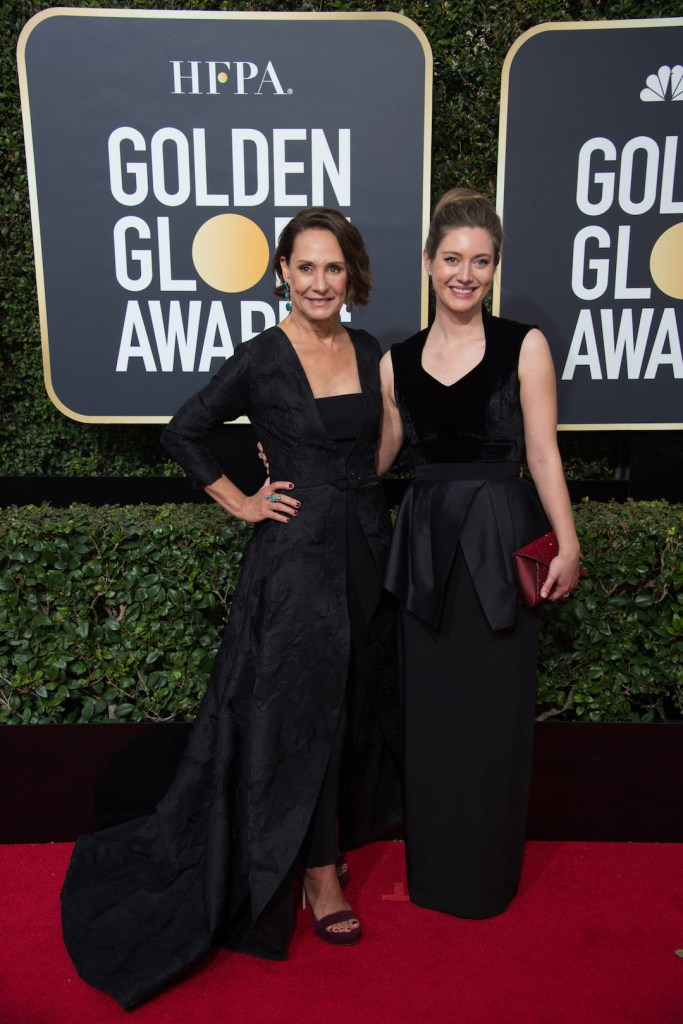 Laurie Metcalf and Zoe Perry attend the 75th Annual Golden Globes Awards 4chion lfiestyle