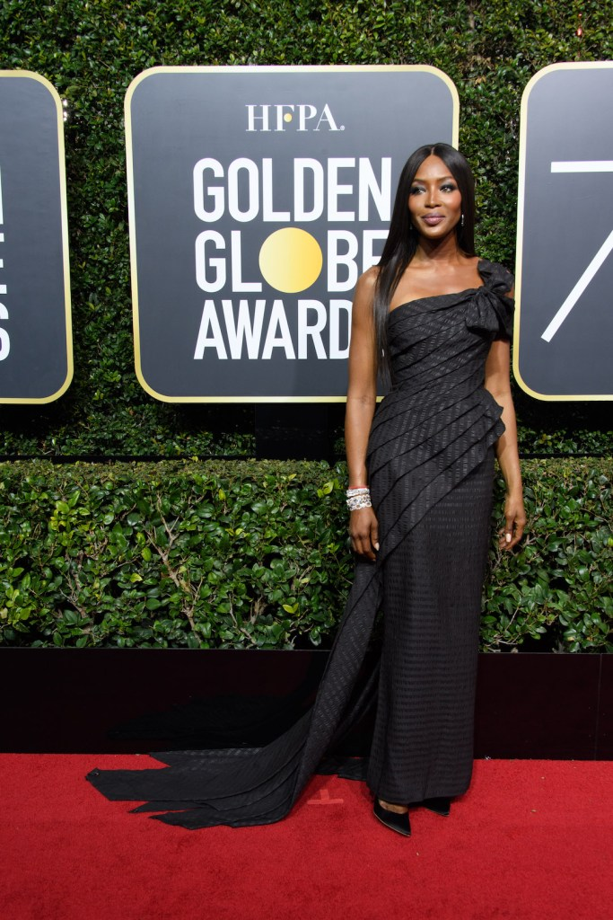 Naomi Campbell arrives at the 75th Annual Golden Globe Awards 4chion lifestyle