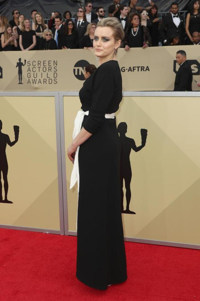 Taylor Schilling red carpet SAG Awards 4Chion Lifestyle