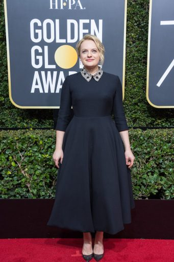 Elisabeth Moss attends the 75th Annual Golden Globes Awards 4chion lifestyle