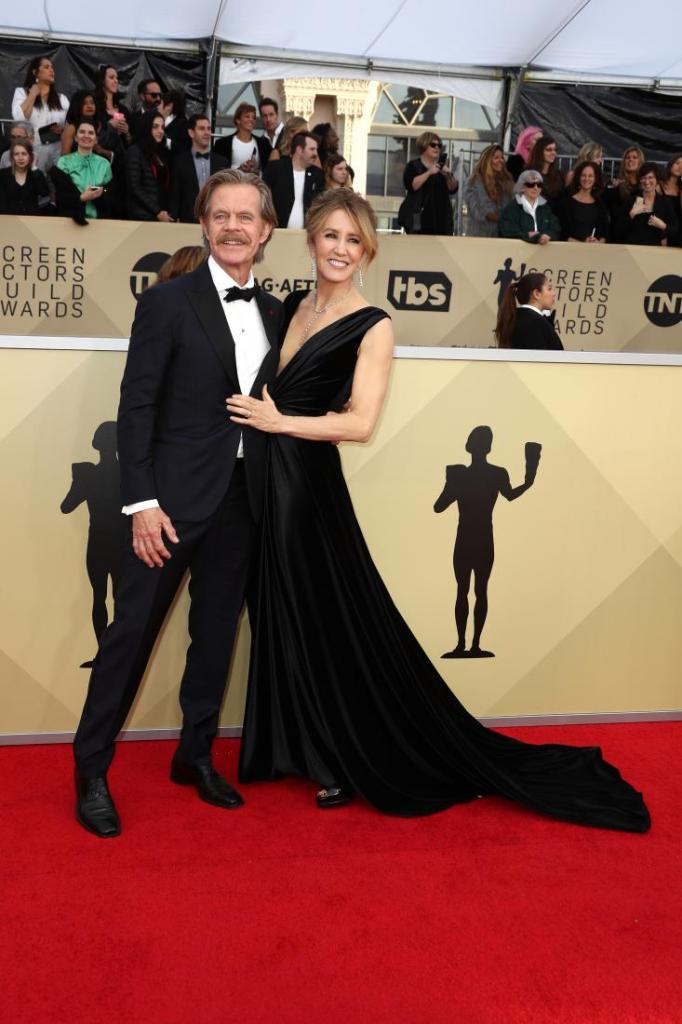 William H. Macy (L) and Felicity Huffman red carpet SAG Awards 4Chion Lifestyle