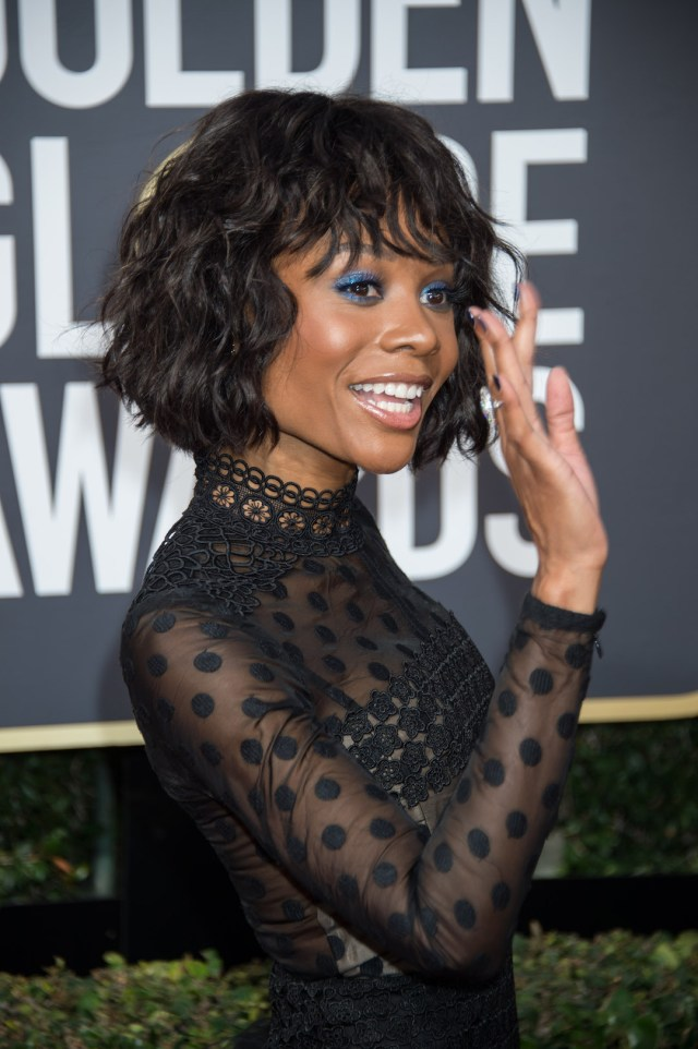 Zuri Hall arrives at the 75th Annual Golden Globe Awards 4chion lifestyle