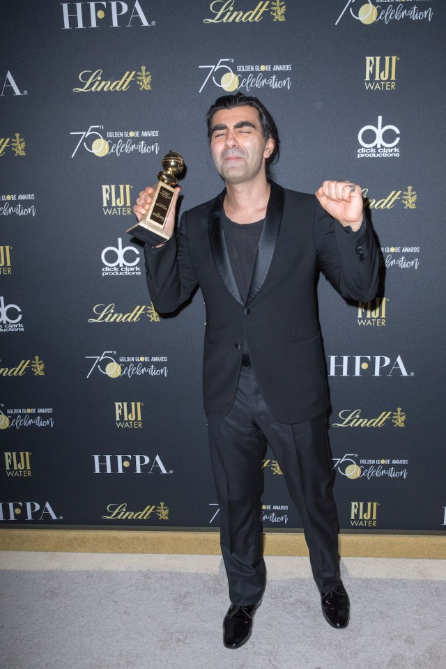 Fatih Akin. Fatih Akin poses with the award backstage at the 75th Annual Golden Globe Awards 4chionlifestyle