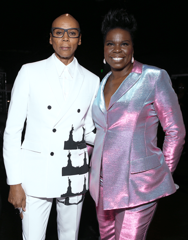 Leslie Jones Rupaul Charles Emmys Primetime Press Room 4Chion Lifestyle4_00305