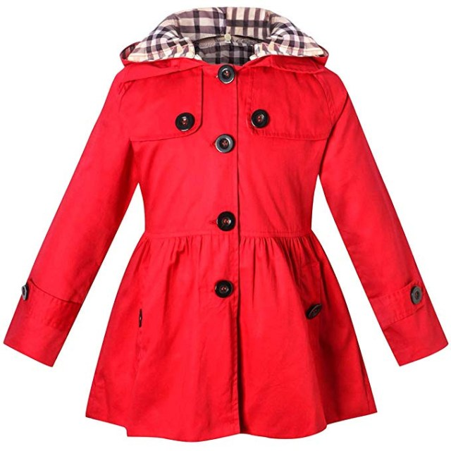 BINPAW Girl's Hooded Trench Coat amazon ads 4chion lifestyle