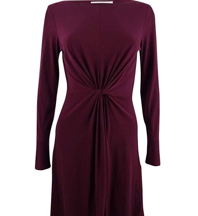 Michael Kors Women's Twist Front Long Dress