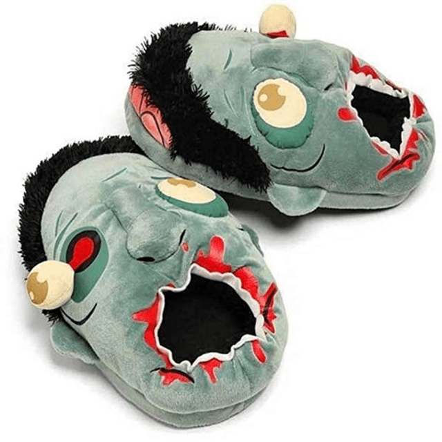Plush Zombie Slippers amazon ad holiday 4chion lifestyle