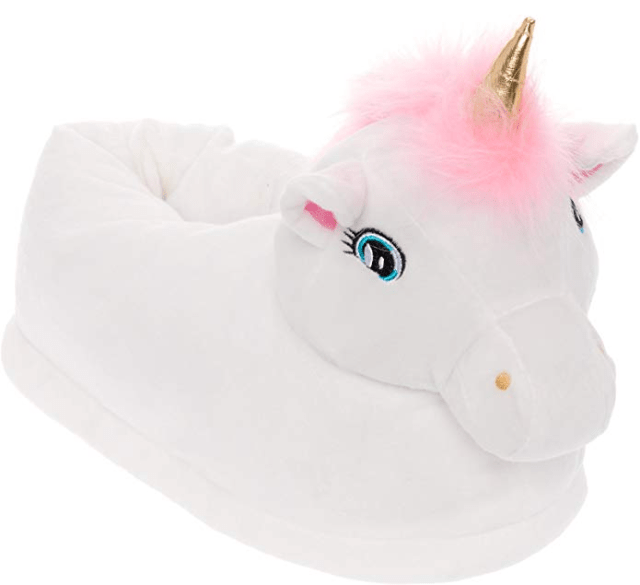 Silver Lilly Light up LED Unicorn Slippers amazon holiday ad 4chion lifestyle