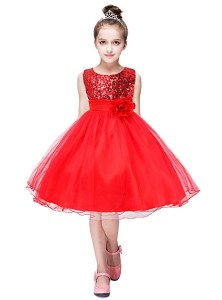 YMING Girls Flower Sequin Princess Dress Sleeveless Tutu Tulle Birthday Party Dress amazon ads 4chion lifestyle