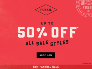 Fossil Semi Annual Sale 4chion lifestyle ad
