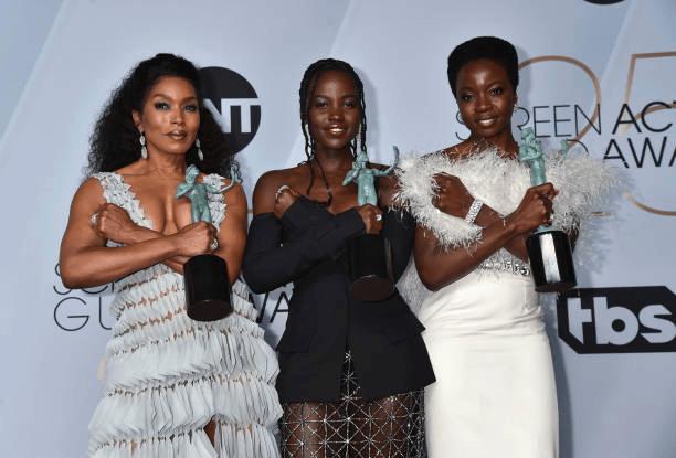 Angela Bassett, Lupita Nyong'o, Danai Gurira SAG Awards 4chion lifestyle